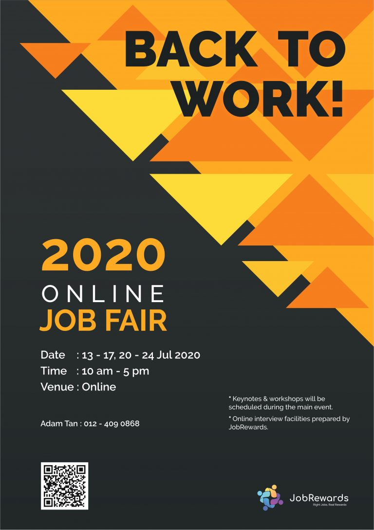JobRewards - Back To Work Online Job Fair
