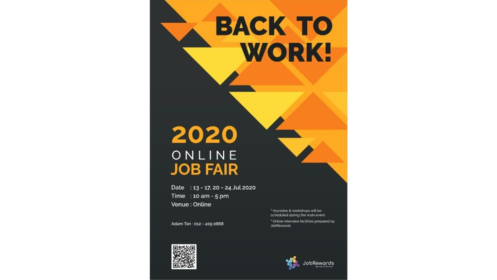 "JobRewards - ""Back to Work"" Online Job Fair Successfully Launched"