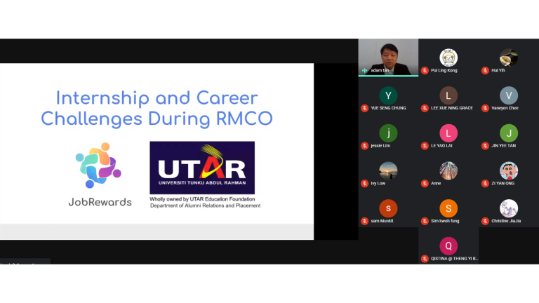 Online Career Talk with UTAR Students